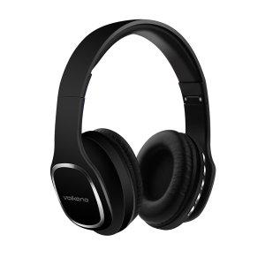 Volkano Phonic Series Black Headphones - VK-2002-BK