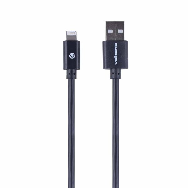 Volkano Strike Series Lightning Cable - VK-20024-BK