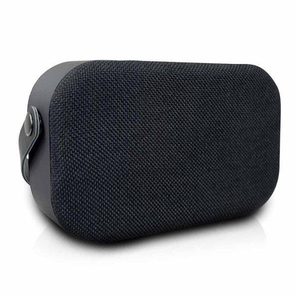 Volkano Fabric Series Black Bluetooth Speaker - VK-3020-BK