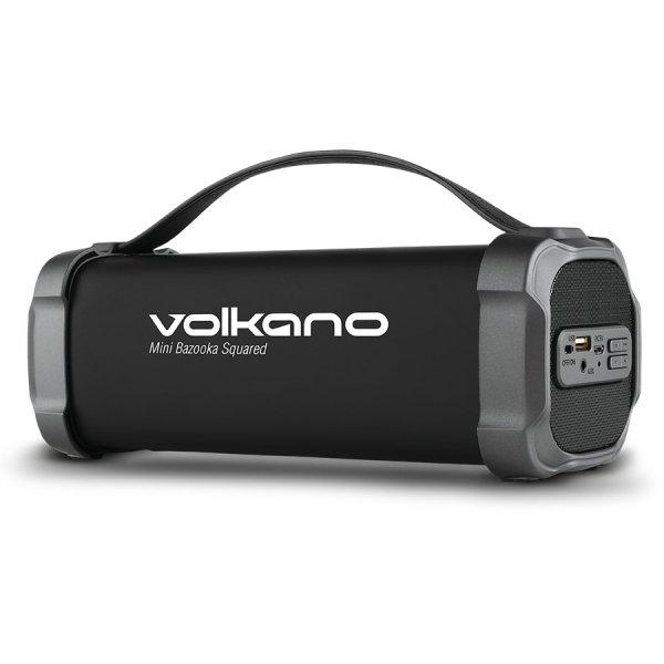 Volkano Mini Bazooka Squared Bluetooth Speaker - VK-3302-BK