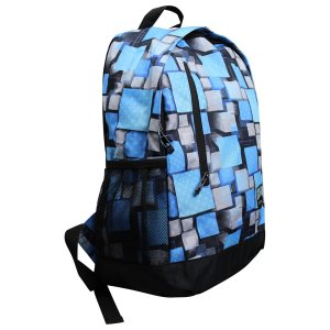 Volkano Two Squared Series Blue Backpack - VK-7000-BL