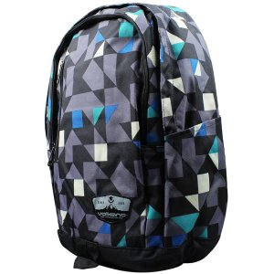 Volkano Geometric Series Blue Backpack - VK-7002-BL