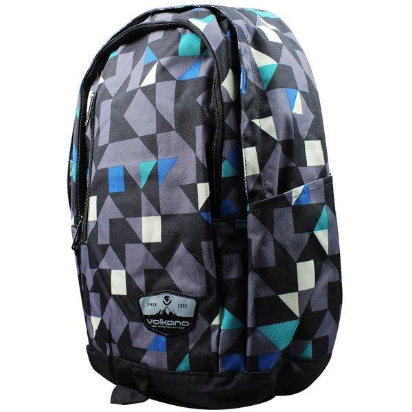 Volkano Geometric Series Blue Backpack - VK-7002-BL