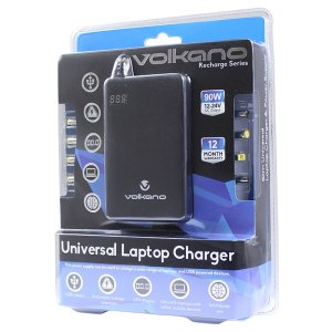 Volkano Recharge Series Universal Laptop Charger - VK-8000-BK