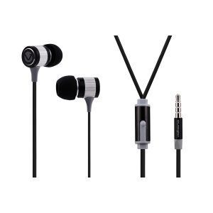 Volkano Metallic Series Black Earphones - VMS201-BLK